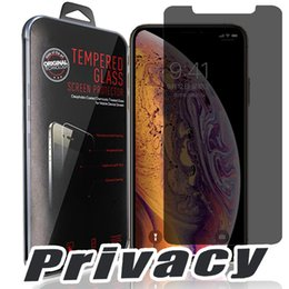 Iphone Glass Screen Guard Australia - For Iphone XR XS MAX X Privacy Tempered Glass Screen Protector LCD Anti-Spy Film Screen Guard Cover Shield for iPhone 7 8 Plus