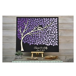 $enCountryForm.capitalKeyWord NZ - 3D Wedding Guest Book Ideas,Personalized Rustic Wedding GuestBbooks Tree, Custom Couple Names Guestbooks With Purple Hearts