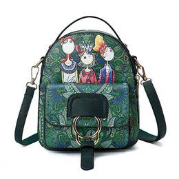$enCountryForm.capitalKeyWord UK - Korean women's ethnic style multi-purpose backpack shoulder diagonal female bag original modern girl mini fashion backpack