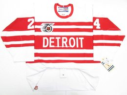 e450ac73e Cheap custom BOB PROBERT DETROIT RED WINGS TBTC 1992 VINTAGE CCM 6100 JERSEY  stitch add any number any name Mens Hockey Jersey XS-5XL