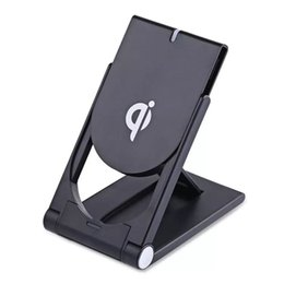 Charger Samsung Quality NZ - High Quality Universal Qi Wireless Charger adjustable Folding Holder Stand Dock For Samsung S7 S8 Edge Plus Note 8 Iphone 8 X MQ30
