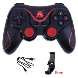 China Wireless Joystick Bluetooth 3.0 T3 Gamepad Gaming Controller X3 Gaming Remote Control for Tablet PC Android Smartphone With Holder suppliers