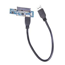 Inch Cable Australia - Super Speed USB 3.0 To SATA 22 Pin 2.5 Inch Hard Disk Driver SSD Adapter Card with 32cm USB3.0 Data Cable
