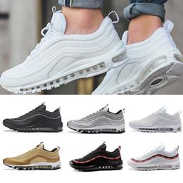 2018 nike air max 97 airmax Nuevos hombres de aire bajo 97 Cojín zapatos casuales respirables masaje barato correr zapatillas planas hombre 97 deportes zapatos al aire libre