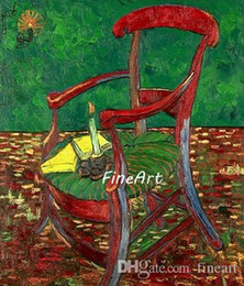 one chairs Australia - handpainted van gogh chair painting on canvas famous artist wall art deco the decorative painting home decor unique gift Kungfu Art