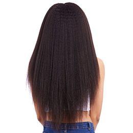 Kinky Straight Hair For UK - hot sale kinky straight virgin remy hair full lace wigs brazilian hair wholesale for black women