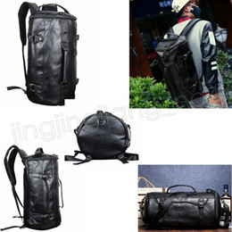 4417a7831223 Men leather travel gyM bags online shopping - PU Leather Large Capacity Gym  Duffel Bag Outdoor