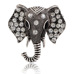 white elephant gifts 2019 - 2Pcs 2019 New Best Deal Fashion Vintage Elephant Rhinestone Brooch Jewelry Broche Cute Animal Brooches For Women cheap w