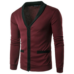 Chinese  Men Sweaters Knitted Cardigan Long Sleeve Casual Knitwear Patchwork Spring New Sweatercoat Jacket Classic Social Overwear Z10 manufacturers
