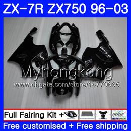 1999 Kawasaki Zx7r NZ - Body For KAWASAKI NINJA ZX 7R ZX750 ZX7R 96 97 98 99 203HM.1 ZX-750 ZX 7 R ZX 750 ZX-7R 1996 1997 1998 1999 2003 Glossy black full Fairing