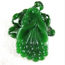 Discount ruyi necklace - Beautifully Hetian jade Ruyi pendant natural green jade auspicious pendant jewelry wholesale