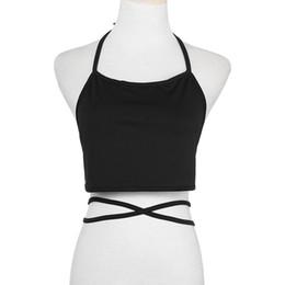 ba74759787f Sexy Halter Neck Solid Women Crop Tops Strap Short Tube Top Vest Summer  2018 Women Tank Top Wine Red Sweet Girls Camis