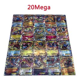 Ex gamEs online shopping - 20pcs Anime Trading Cards Games EX Mega Cards GX Mega GX Models Cartoon English Party Card for Children Adult Poker Funny shine