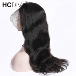 Full Lace Human Hair For Women Australia - Remy Pre Plucked 360 Lace Frontal Wig Peruvian Body Wave 150% Density Lace Front Human Hair Wigs For Black Women Nartural Hairline Full