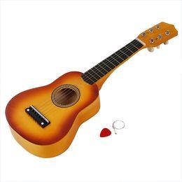 Venta al por mayor de HLBY Good Deal Mini guitarra Gitarre acústica de 21 pulgadas akustische + Plektron