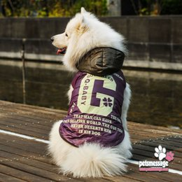 Dog Down Coat Jacket NZ - for Large Dog Winter Clothes Pet Clothes Big Apparel Coat High Quality Pet Product Down Jacket Cotton Padded Coat 1pcs lot