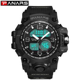 Brand Luxury Style Watch Australia - PANARS Men's Watches Sports Digital Watch Brazil Sale Vibrator Fitness Sport G Style LED Waterproof Watch Top Luxury Brand