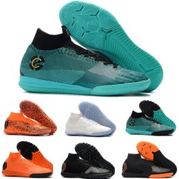 kids indoor shoes 2019 - 2019 Mens kids CR7 IC TF Melhor Elite Ronaldo KJ VI 360 Soccer Shoes Football Boot Mercurial Superfly Cristiano Ronaldo