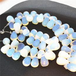 Metal Pear NZ - ashion Jewelry Beads Hot! 2018 Natural Opal Stone Water Droplets Pear Shape Beads Horizontal Hole For Earrings Fashion Jewelry Making 15*...
