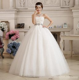 $enCountryForm.capitalKeyWord Australia - 2018 Strapless Wedding Dress Large Size Ball Gown Wedding Gow Lace Diamond mother of the bride Dress Vestido De Noiva