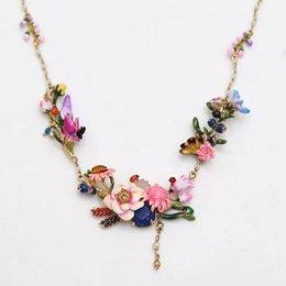 2017 Amybaby Primavera Inverno Monet Garden Flower Stone nappe Collana smalto smalto per gioielli