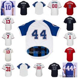 2018 Atlanta 13 Ronald Acuna Jr. Jersey 5 Freddie Freeman 7 Dansby Swanson  10 Chipper Jones 1 Ozzie Albies baseball Jerseys Men Women Youth 810910b50