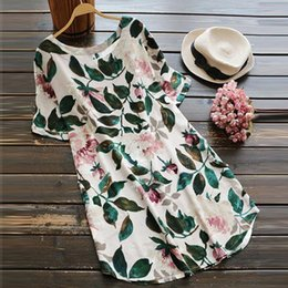 4958f67918f ZANZEA Summer Women Retro Floral Print Dress 2018 Short Sleeve Maxi Ladies  Loose Clothes Robe Femme Casual Boho Beach Vestido
