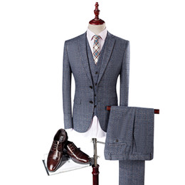 China MarKyi 2017 Men Light Grey Wedding Suit Groom Tuxedos Best Suits for Male 3 Pcs (Jacket+Pants+Vest+Tie)Formal Dress Men Suit Set cheap best wedding dresses for groom suppliers