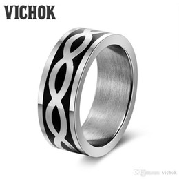 Top Valentines Gifts Canada - Silver Color Stripes Band Rings 316L Stainless Steel Men's Ring For Lover valentines day gift anel masculino anillos Top Quality VICHOK
