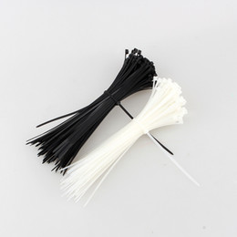 Wire Wrap cable online shopping - 100pcs mm x mm Zip Trim Wrap Cable Loop Ties Wire Self Locking Black White Colors