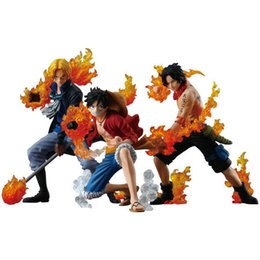 Flaming Toys UK - NEW hot 8-12cm One piece Flame three brothers luffy ace Sabo action figure toys Christmas toy