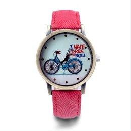 Outad Worldwide Store Women Men Aircraft Pattern Denim Fabric Band Round Dial Quartz Wrist Watches Relogio Watches