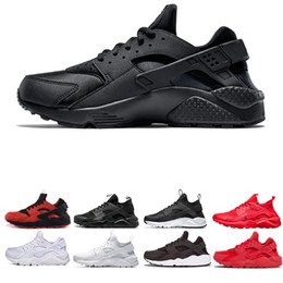 Pink black huarache shoes online shopping - Huarache ultra run Running Shoes sneaker White Black Red Sneakers athletic new mens breathable walking Shoes chaussure size us
