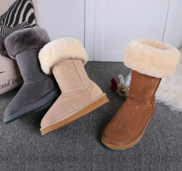 $enCountryForm.capitalKeyWord NZ - Hot sell 2018 High Quality WGG Australia Women's Classic tall Boots Womens boots Boot Snow Warm and comfortable Winter leather boots