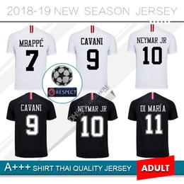 d9d588de6 NEW 2019  7 MBAPPE home Soccer Jersey 18 19 Paris Third Black White CAVANI  2018 PSG Football Shirts CHAMPIONS LEAGUE football jersey