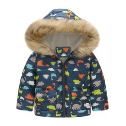 c913138134 Cute Toddler Baby Boys Girls Solid Toddler Baby Girl Boy Floral Dinosaur Winter  Warm Jacket Hooded Windproof Coat  T
