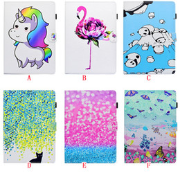 """Discount stand pouch tab - For Samsung Tab A 8.0"""" 2017 T380 T385 10.1 T585 T580 P580 T815 T350 E 9.6 T560 Stand Leather Case Flip Cartoon Wall"""