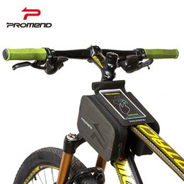 Dark Cycles NZ - Promend Bicycle Frame Front Head Top Tube Waterproof Touch Screen Bike Bag Cycling For 6.0 inch Cell Phone Bike Accessories