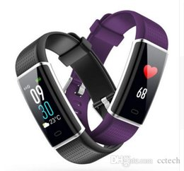 Sport Pulse Heart Rate Monitor Australia - ID130C bluetooth 4.0 Smart Bracelet Fitness Tracking Step Counter Activity Monitor Band Alarm Clock Heart rate monitoring sport wristband
