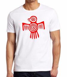Shorts For Tall Men NZ - 2018 T Shirt Fashion Short O-Neck Tall Red Ancient Aztec Tribal Eagle Tee V384 Men's T-Shirt T Shirt For Men