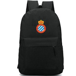 Nice clubs online shopping - RCD Espanyol club backpack Famous team day pack Nice school bag Football packsack Soccer rucksack Sport schoolbag Outdoor daypack