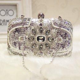 Pearl Ladies Handbag NZ - 2019 Luxury Chain Wedding Bags Beading Pearls Crystal Rhinestones BlingBling Silver Handbags Small Evening Party Purse Ladies High Quality