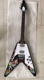 Colorful Guitars NZ - Free Shipping ! Wholesale New Arrival 1968 Flying V Electric Guitar Top Quality In Colorful 170606
