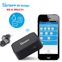 Wholesale Sonoff RF Bridge Convert MHz RF Remote to App via WiFi Smart Home Security Automation Module Wireless Switch Timer
