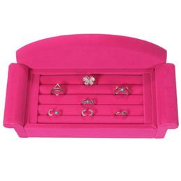 $enCountryForm.capitalKeyWord Australia - New Arrrive Earring Ring Jewelry Display Unique Sofa Velvet Black Rose Red Organizer Box Tray Holder Case For Christmas Gift Hot