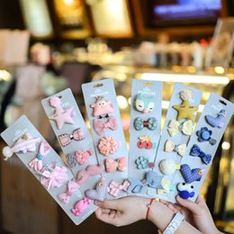Wholesale 5pcs set Newborn Manual Baby Hairpin Edge Hair Claws Children Headwear Princess Hair Accessories Paper Set