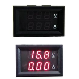 Dc Amp Meter Gauge Australia - 1 Piece Design LED Panel Amp DC 0-100V 50A Dual Red Digital Voltmeter Ammeter Panel Amp Volt Gauge Volt Meter