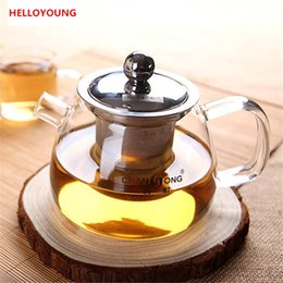 $enCountryForm.capitalKeyWord NZ - CJ265 High-capacity Best Heat Resistant Hyaline cup Teapot Coffee Tea Set Puer Kettle With Filter Durable Tea Set