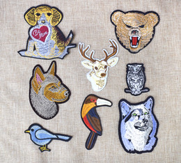 e0786ee78 Animal Stripe Embroidery Clothing Patches for baby Attire Iron on Transfer  Applique Patches for Fabrics Badge Apparel Accessories Patch 8PCS