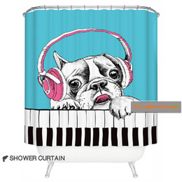 Curtains styles designs online shopping - Rubihome European cartoon dog design shower bath curtain for bathroom polyester waterproof x180cm